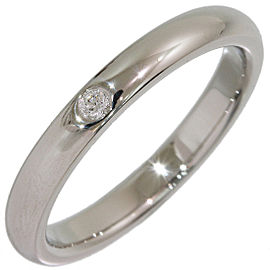 Tiffany & Co. Elsa Peretti Platinum Diamond Ring Size 6.25