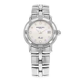 Raymond Weil Parsifal Diamonds MOP Dial Steel Quartz Ladies Watch 9441-ST-97081
