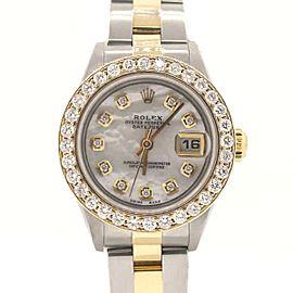 Rolex Datejust Ladies 2-Tone 18K Yellow Gold/Stainless Steel 26MM Watch w/MOP Diamond Dial & Bezel