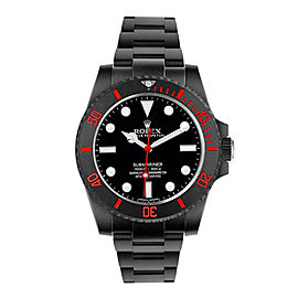 Rolex Ceramic Submariner 114060 DLC-PVD 40mm Men's Watch