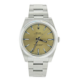 Rolex Oyster Perpetual 34 Champagne Dial Stainless Steel Oyster Automatic Men's Watch