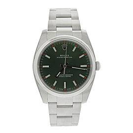 Rolex Oyster Perpetual 34 114200GNSO Green Olive Dial Stainless Steel Oyster Automatic Unisex Watch