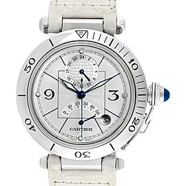 Cartier Pasha Power Reserve GMT Mens Steel Watch W3103755