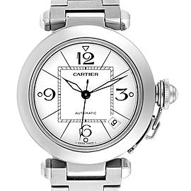Cartier Pasha C 35 White Dial Stainless Steel Unisex Watch W31074M7