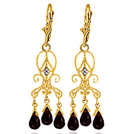 6.31 CTW 14K Solid Gold Sensation Garnet Earrings