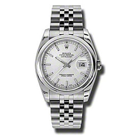 Rolex Datejust 116200 SSJ Steel Silver Stick Dial 36mm Watch