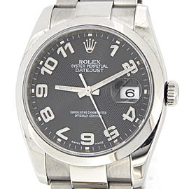Mens Rolex Stainless Steel Datejust Black Arabic 116200