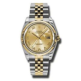 Rolex Datejust 116233 CHRJ Steel and Yellow Gold Champagne Roman Dial 36mm Watch