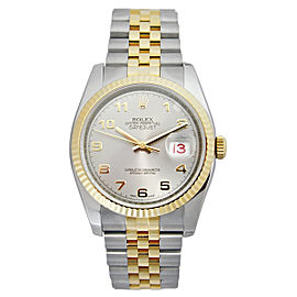 Rolex Datejust 116233SAJ Steel and Yellow Gold Silver Arabic Dial 36mm Watch