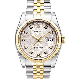 Rolex Datejust 16233 Silver 36mm Watch