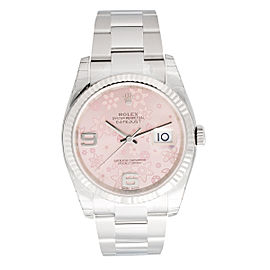 Oyster Perpetual 36 mm Pink Floral Dial Stainless Steel Oyster Automatic Men's Watch
