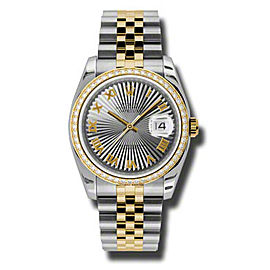 Datejust Grey Dial Automatic Stainless Steel and 18kt Yellow Gold Ladies Watch Watch