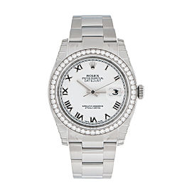 Rolex Oyster Perpetual Datejust 36mm Diamond Bezel 116244 WRO Watch