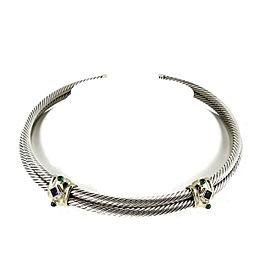 David Yurman Renaissance Sterling Silver Amethyst, Green Onyx Necklace