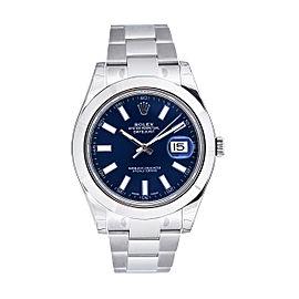 Rolex Datejust II Steel Blue Dial 41mm Watch