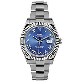 Rolex Rolex 41mm Datejust II Stainless Steel 116334 Blue Roman Blue Roman 41mm 116334