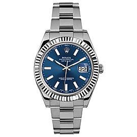 Rolex Rolex 41mm Datejust II Stainless Steel 116334 Blue Index Blue Index 41mm 116334