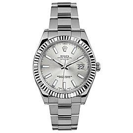 Rolex Rolex 41mm Datejust II Stainless Steel 116334 Silver Index Silver Index 41mm 116334