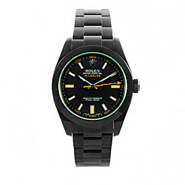 Rolex Milgauss PVD with Green Crystal 40mm Watch