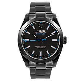 Rolex Milgauss 116400 Black Dial 40mm Mens Watch