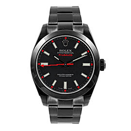 Rolex Milgauss 116400 DLC-PVD 40mm Men's Watch