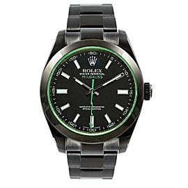 Rolex Milgauss 116400GV Black Dial 40mm Mens Watch