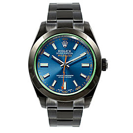 Rolex Milgauss 116400 Blue Dial 40mm Mens Watch