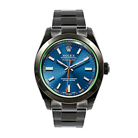 Rolex Rolex Blue Milgauss 116400 GV DLC-PVD Blue 40mm 116400