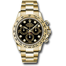 Rolex Cosmograph Daytona 116508BKDO 18K Yellow Gold with Black Dial Automatic 40mm Mens Watch