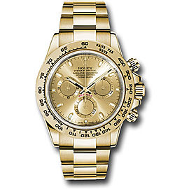Rolex Cosmograph Daytona 116508 chi 18K Yellow Gold with Champagne Dial Automatic 40mm Mens Watch