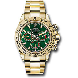 Rolex Cosmograph Daytona 116508 gri 18K Yellow Gold with Green Dial 40mm Mens Watch