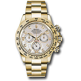 Rolex Cosmograph Daytona 116508 md 18K Yellow Gold with Mother of Pearl Dial 40mm Mens Watch