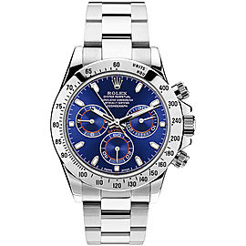 Rolex Pre Owned Steel Daytona 116520 Custom Blue 40mm Men's Watch