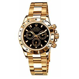 Rolex Daytona Yellow Gold Black Dial 40mm Watch