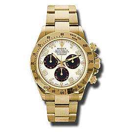 Rolex Daytona Yellow Gold Ivory Dial 40mm Watch