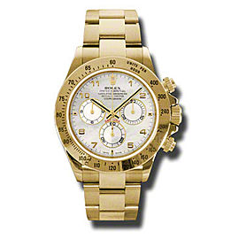 Rolex Daytona Yellow Gold Mother of Pearl Dial 40mm Watch