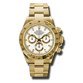 Rolex Daytona Yellow Gold White Dial 40mm Watch