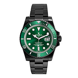 Rolex Submariner Green 116610LV DLC-PVD 40mm Men's Watch