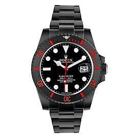 Rolex Ceramic Red Submariner 116610 DLC-PVD