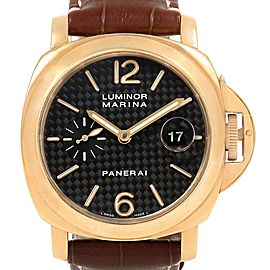 Panerai Luminor Marina 44mm Yellow Gold Watch PAM140 PAM00140 Box Papers