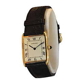 Cartier Tank 2466 18K Yellow Gold 30mm Manual Mens Vintage Watch