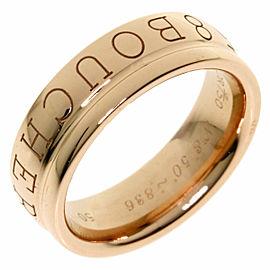 Boucheron 18K Pink Gold Logo Ring TNN-2002