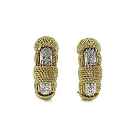 Roberto Coin Opera 18k Yellow Gold Diamond Earrings