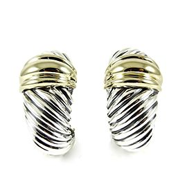 David Yurman Thoroughbred Sterling Silver Earrings