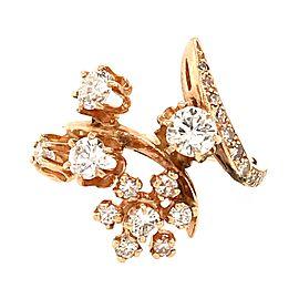 Estate 14k Yellow Gold Diamond Cluster Ring