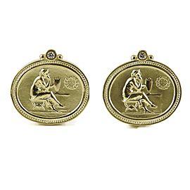 SeidenGang Athena 18k Yellow Gold Diamond Earrings