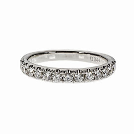 14K White Gold Diamond Band Ring Size 6.75