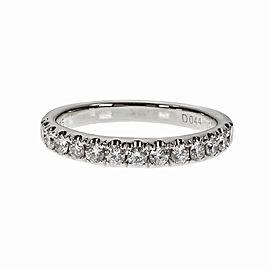 14K White Gold Diamond Band Ring Size 6.75