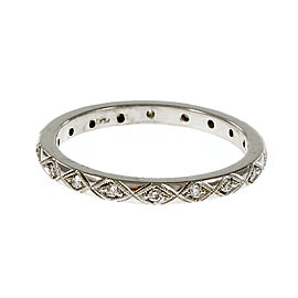 Peter Suchy Vintage Platinum Diamond Eternity Band Ring Size 6.5