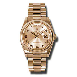Rolex Day-Date President Rose Gold Champagne Dial 36mm Watch
